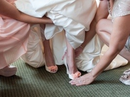 Bridal Shoes: Photo by Blair Nicole Photography via Heather Renee Celebrations