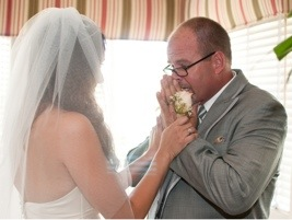 First Look with Dad: Photo by Blair Nicole Photography via Heather Renee Celebrations