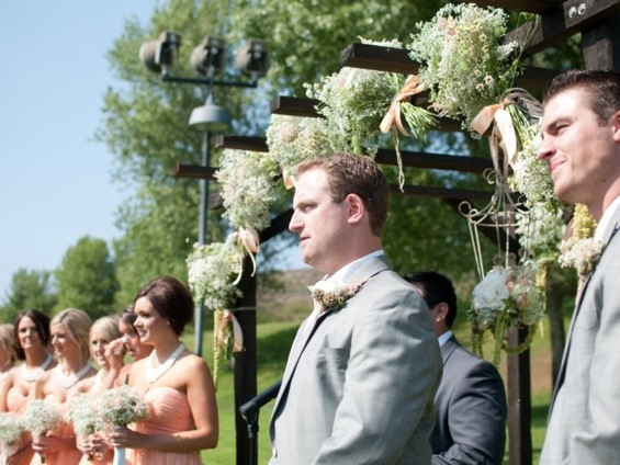 Groom;s First Look at His Bride: Photo by Blair Nicole Photography via Heather Renee Celebrations