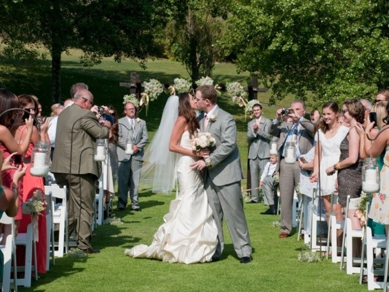 First Kiss: Photo by Blair Nicole Photography via Heather Renee Celebrations