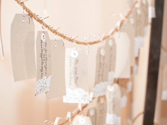 Escort Cards: Photo by Blair Nicole Photography via Heather Renee Celebrations