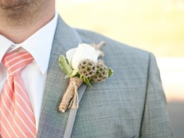 Boutonniere: Photo by Blair Nicole Photography via Heather Renee Celebrations