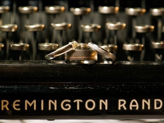 Wedding Rings on Typewriter: Photo by Menning Photographic via Heather Renee Celebrations