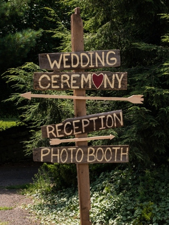 Wedding Sign: Photo by Menning Photographic via Heather Renee Celebrations