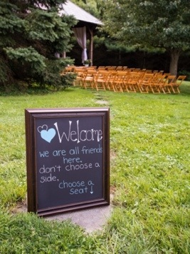 Ceremony Sign: Photo by Menning Photographic via Heather Renee Celebrations