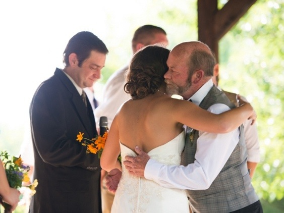 Bride Hugging Her Dad: Photo by Menning Photographic via Heather Renee Celebrations
