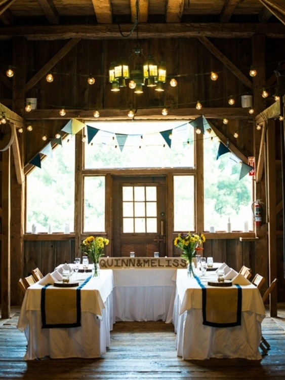 Rustic Barn Reception: Photo by Menning Photographic via Heather Renee Celebrations