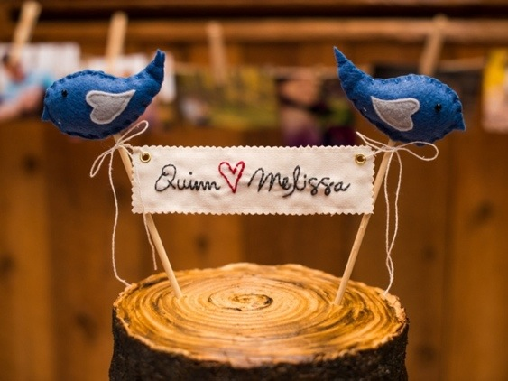 Rustic Cake Topper: Photo by Menning Photographic via Heather Renee Celebrations
