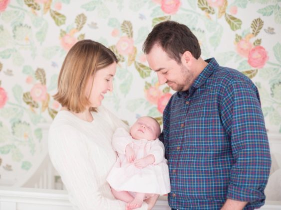 Floral Nursery and Newborn Session {Baby Victoria}