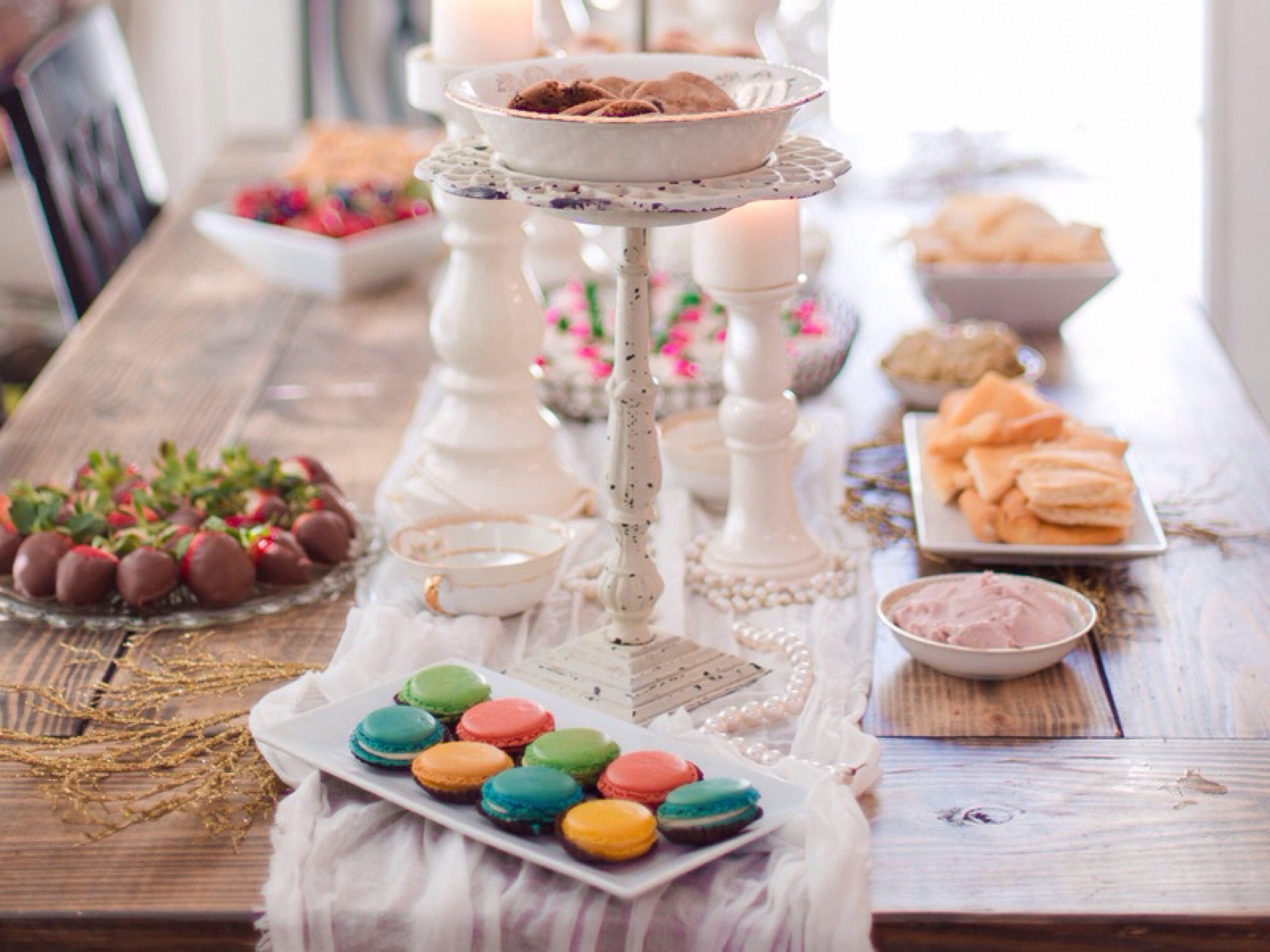 Dreamy Blush Pink and Gold Baby Shower: Photography by Jill Blue Photography via Heather Renee Celebrations